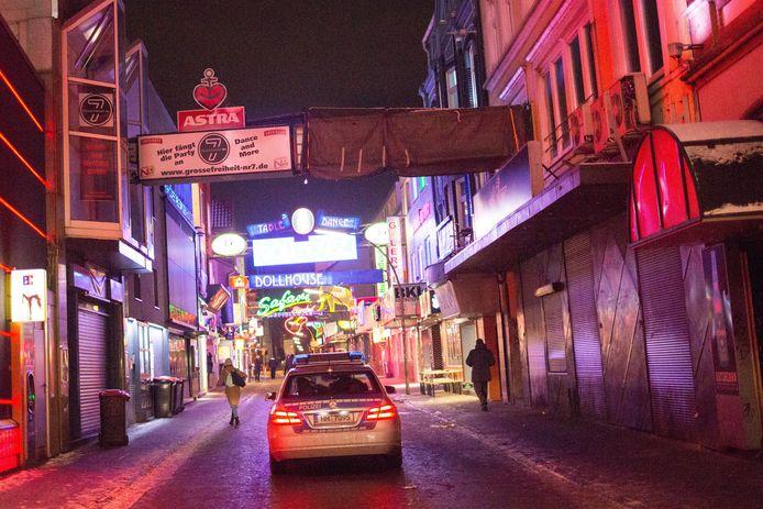 Prostitutiebuurt Reeperbahn in Hamburg, de tweede grootste stad van Duitsland.
