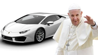 Paus Franciscus verkoopt zijn Lamborghini