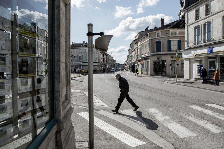 Straatbeeld in Ligny-en-Barrois Beeld null