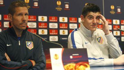 """Diego Simeone: """"Courtois zou bij Atlético Madrid geen eerste keeper zijn"""""""