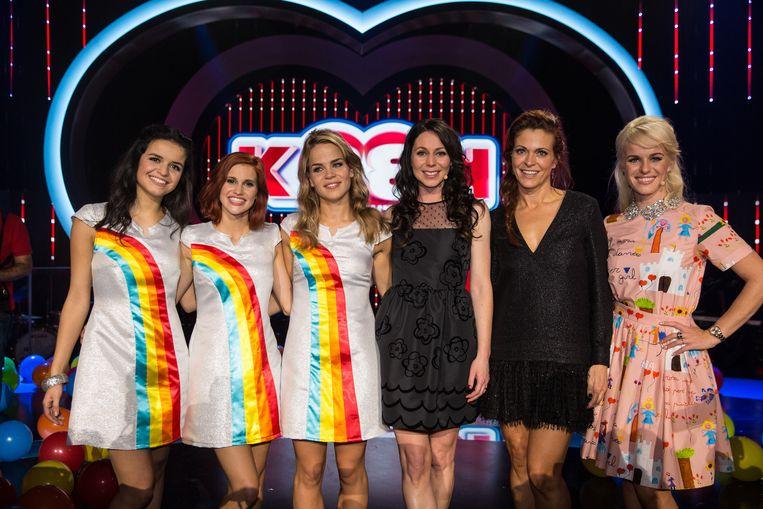 K3 zoekt K3 finale: Hanne, Klaasje, Marthe, Kristel, Karen en Josje