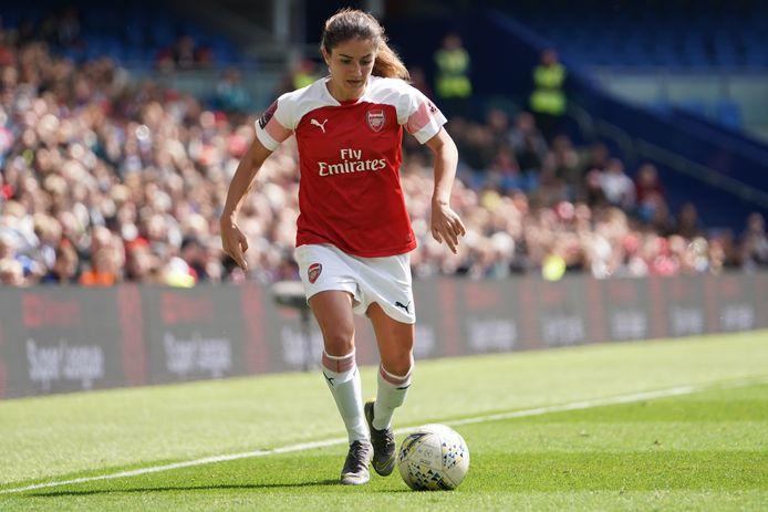 Daniëlle van de Donk in de kampioenswedstrijd van Arsenal bij Brighton vorig seizoen.