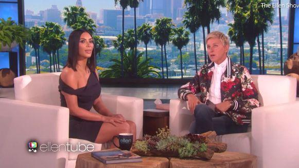 Kim Kardashian was vorige week nog te gast bij Ellen