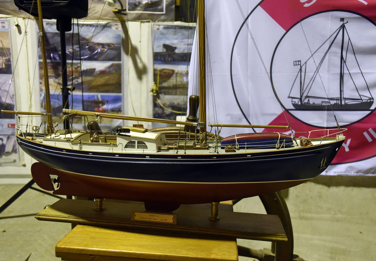 Het schaalmodel van het zeilschip de Askoy II.