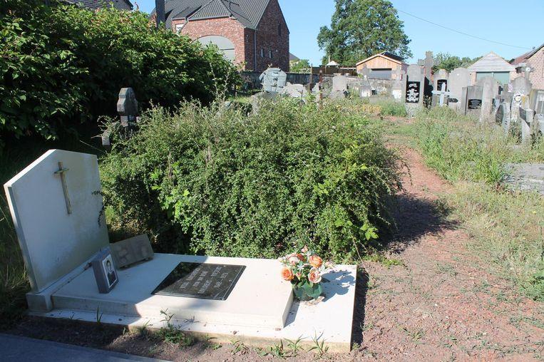 Van sommige graven is er haast niets meer te zien door het onkruid.