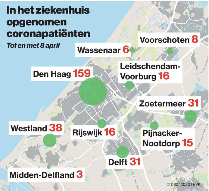 Hans van Kralingen Corona kaart 8 april 2020