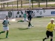 Bekijk hier de kickboksactie van voetballer Mo Faloun