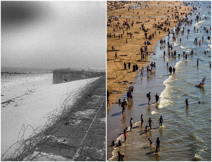 Scheveningen in 1944 en nu