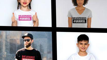 Exclusieve #VANRSL T-shirts te koop tijdens Batjes