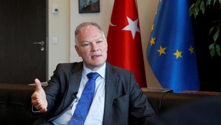 Selim Yenel, Turkse ambassadeur in Brussel. Beeld Reuters