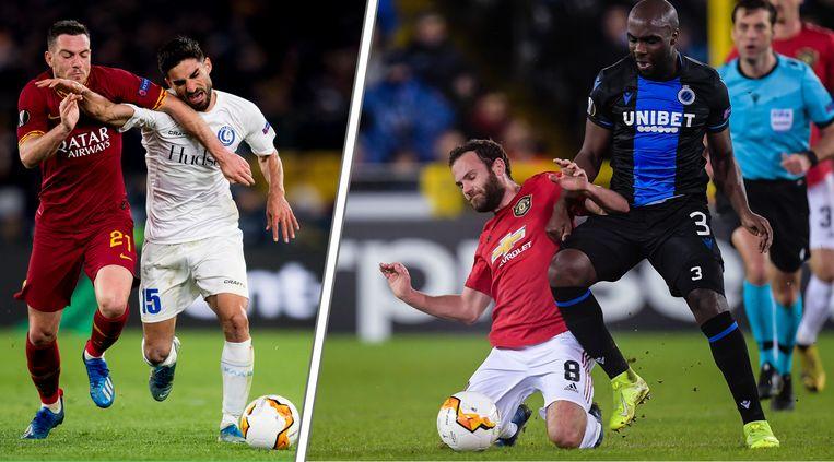 Wat zijn de kansen van AA Gent en Club Brugge om door te stoten in de Europa League?