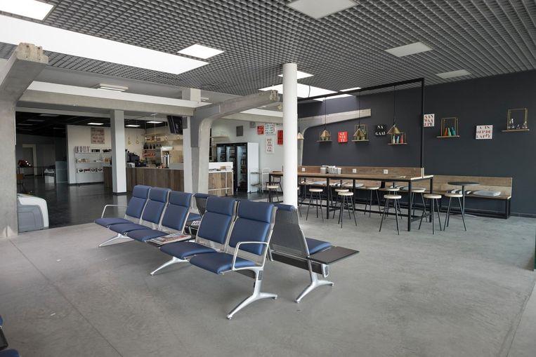 Een deel van de nieuwe vertrekhal van Antwerp Airport.