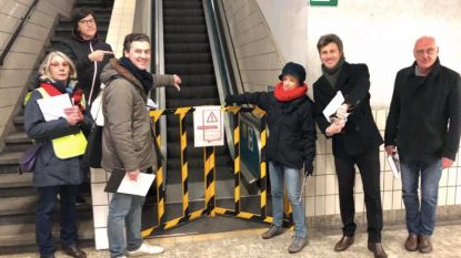 Opnieuw protest tegen verloedering station Dampoort: geen permanentie, wel defecte roltrap en gesloten toiletten