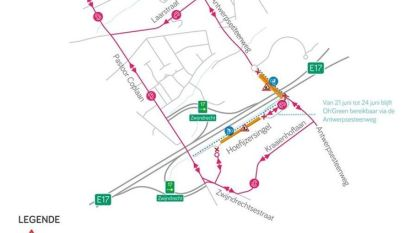 Hoefijzersingel en deel Antwerpsesteenweg dit weekend afgesloten