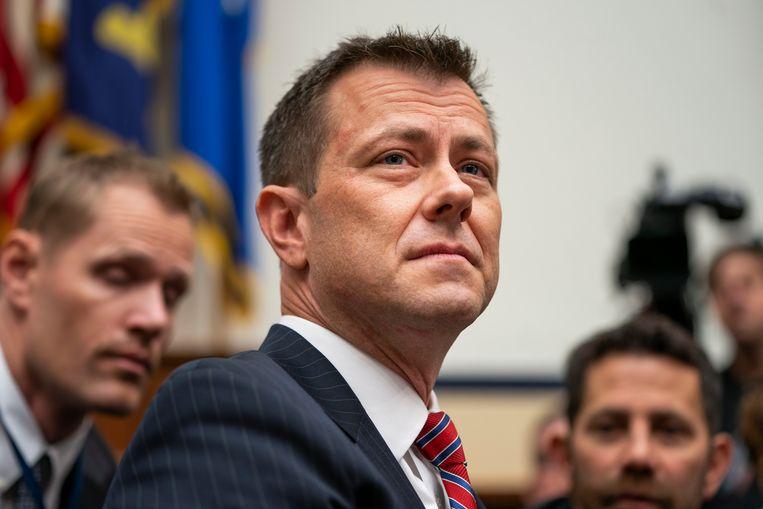 De op straat gezette FBI-agent Peter Strzok.