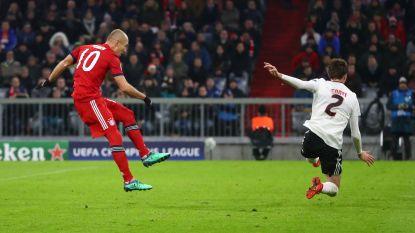 Bayern na geweldige goals Robben en nummer 50 en 51 in CL van Lewandowski vlotje door