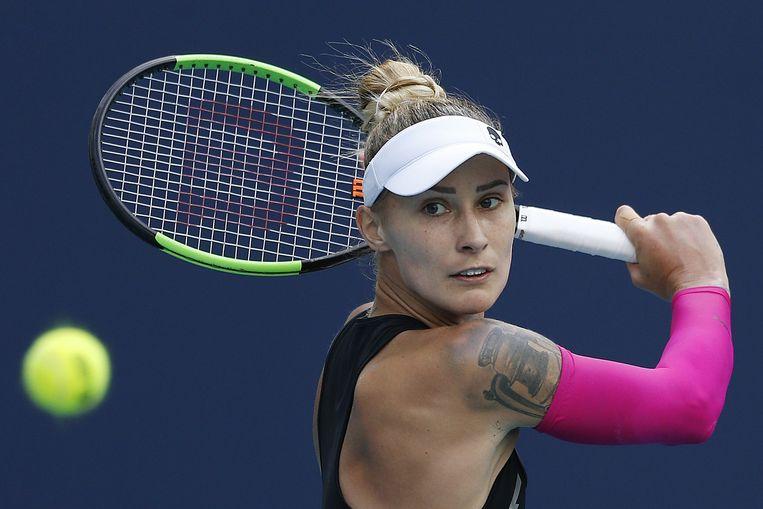Polona Hercog neemt het morgen in de finale op tegen Iga Swiatek.