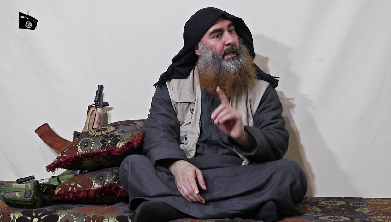 Zeldzaam beeld van IS-leider Abu Bakr al-Baghdadi. Beeld ANP