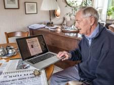 Ton Nauta uit Zwolle ontmoette bijna 100-jarige Canadese veteraan Fred Arsenault (die van de verjaardagskaarten) in 1945