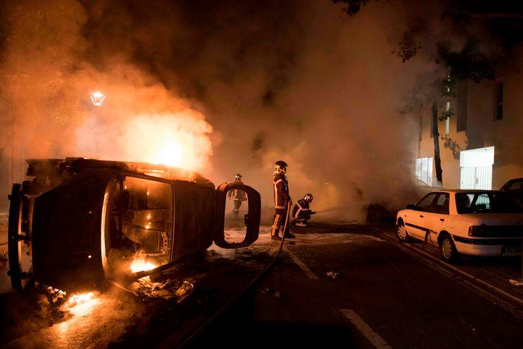 Heel wat wagens gingen in vlammen op.
