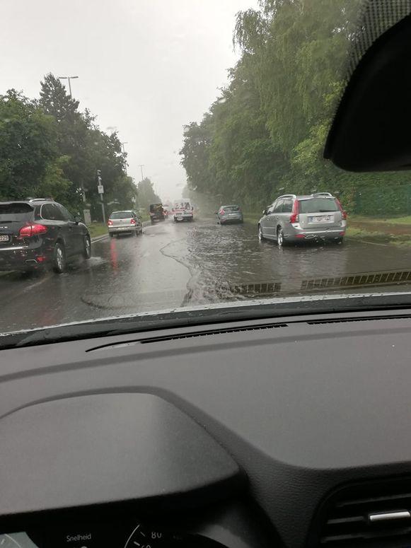 Delen van de ring rond Turnhout liepen onder water.