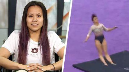 """Gymnaste over horrorval waarbij ze beide benen brak: """"Pas toen ik omlaag keek, begon ik pijn te voelen"""""""