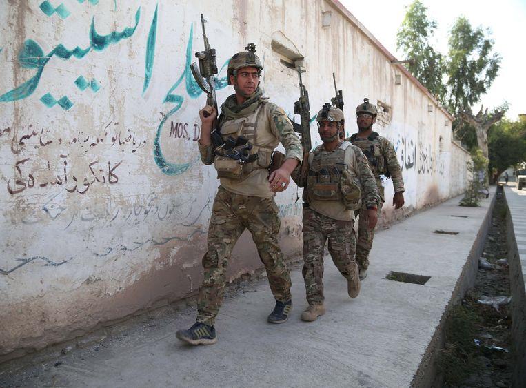 Afghaanse veiligheidstroepen in Jalalabad. Archieffoto.