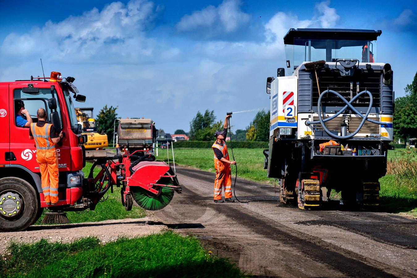 Het werk aan de Blauwesteenweg is hard nodig, vinden veel scholieren in de Hoeksche Waard.