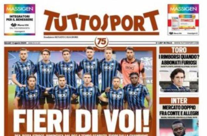 De cover van Tuttosport.