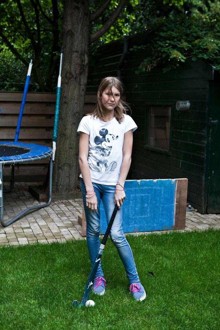 Een elfjarige Annemarijn. Beeld Patricia Wolf