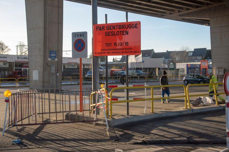 De Park-and-ride zone blijft dicht tot 19 maart 2019.