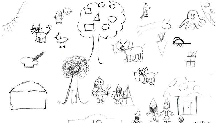 Deze tekening is gemaakt door Annelinde (10). Op ons verzoek heeft zij haar visie op adhd getekend. Beeld