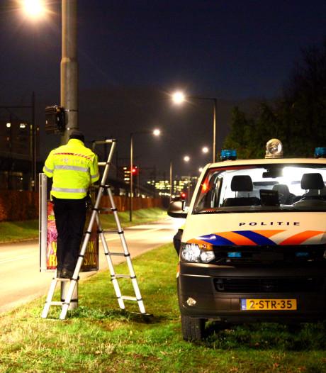Radar langs Zielhorsterweg meet snelheid maar flitst niet