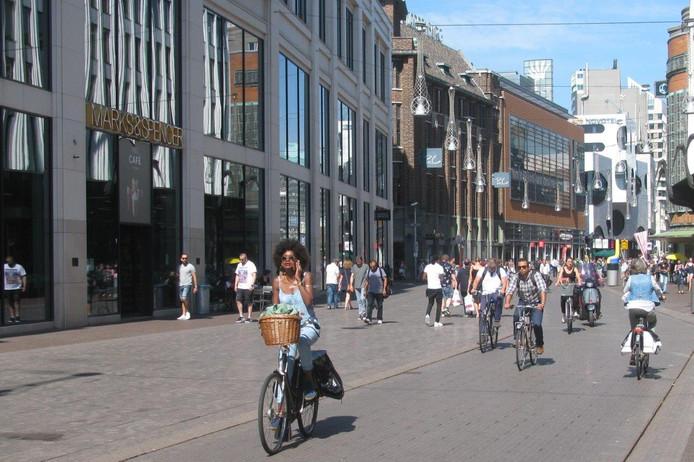 De D66 wil meer fietsers en minder auto's. Foto ter illustratie.