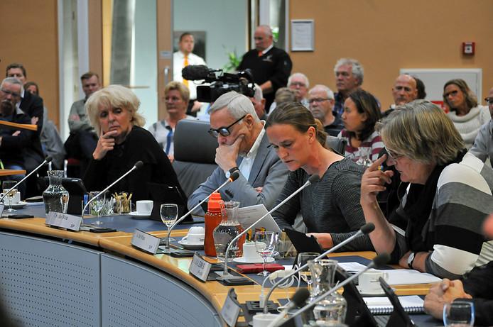 SP-fractievoorzitter Anita de Vos (tweede van rechts) in de gemeenteraad van Schouwen-Duiveland