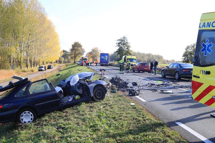 Ernstig ongeluk op de Rijksweg bij Veghel.