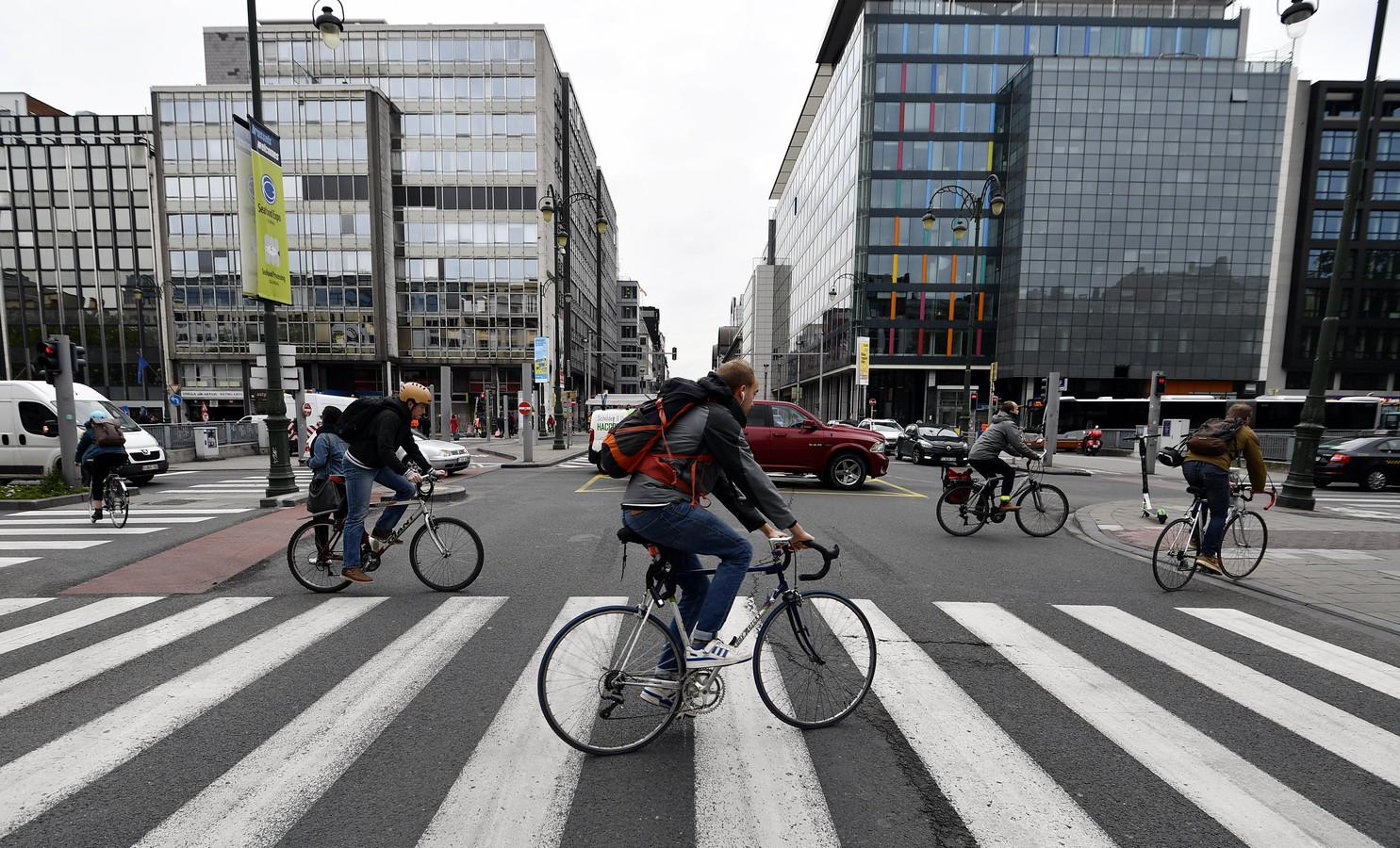 Cyclistes à Bruxelles