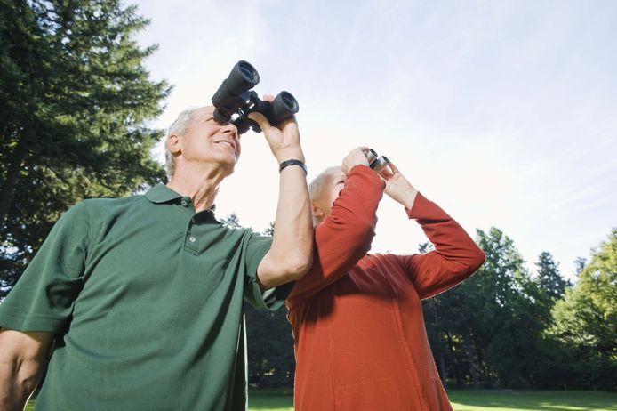 stockagenda stockfoto stockadr natuur vogels kijken recreatie verrekijker