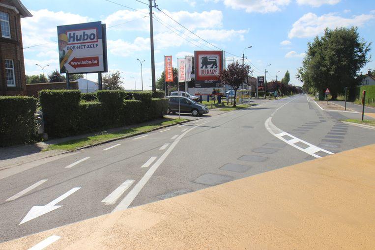 De Brugsesteenweg in Eeklo, nog voor de start van de werken.