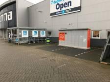 Pakketautomaat tijdelijk in Leusden op parkeerplaats Karwei