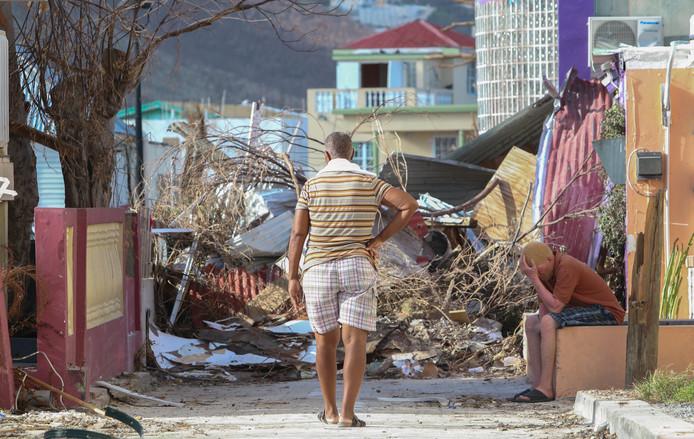 De ravage op Sint Maarten.