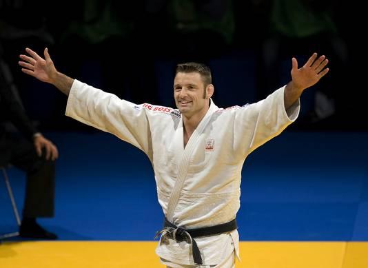 Mark Huizinga tijdens de Nederlandse kampioenschappen judo in 2008.