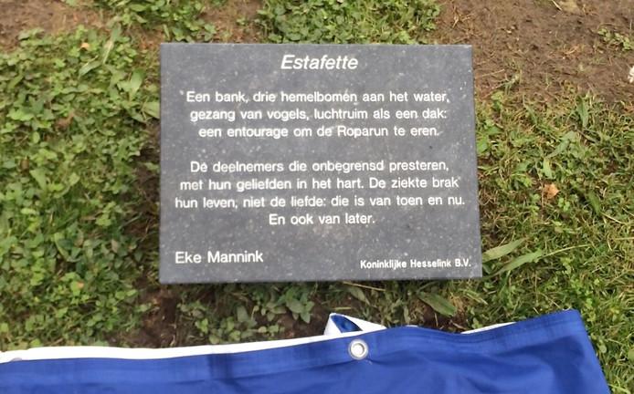 Poëtisch Roparun Monument Als Eerbetoon In Zutphen Zutphen