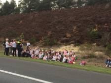 Bus vol kinderen strandt op A28 bij Soesterberg