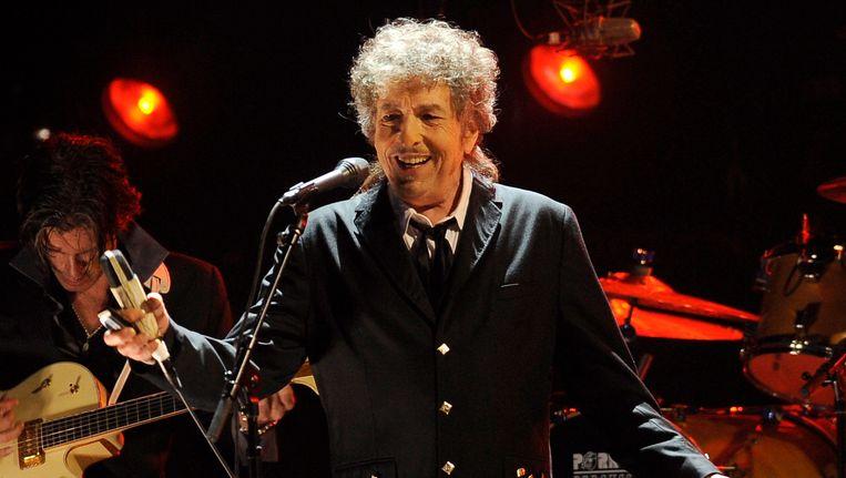 Bob Dylan tijdens een optreden in Los Angeles vorig jaar. Beeld AP
