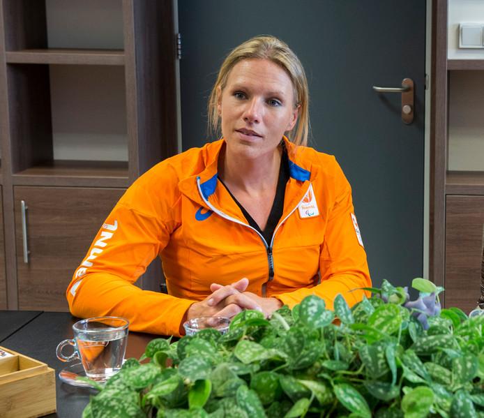 Chef de mission Esther Vergeer op een archieffoto.