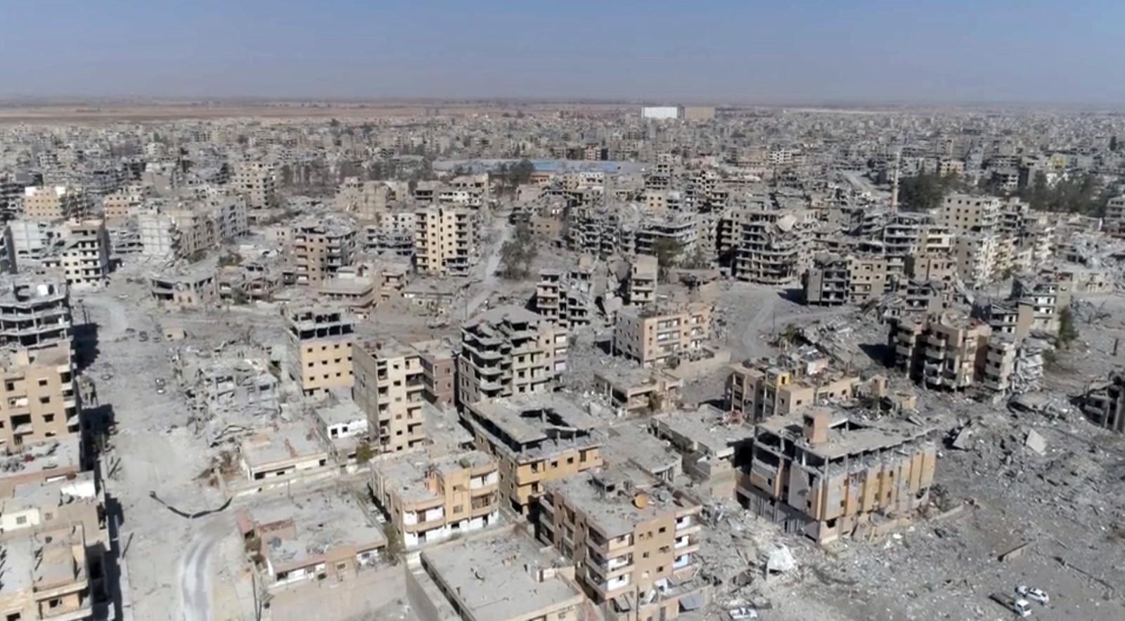 Raqqa, oktober 2017.