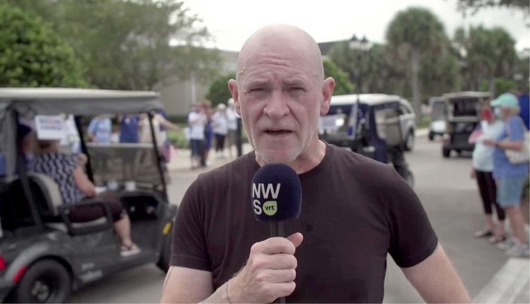 Björn Soenens: 'Op rally's van Trump zijn er mensen die ons de hand drukken of zelfs omhelzen, gewoon om die gehate journalisten eens flink op stang te jagen.' Beeld