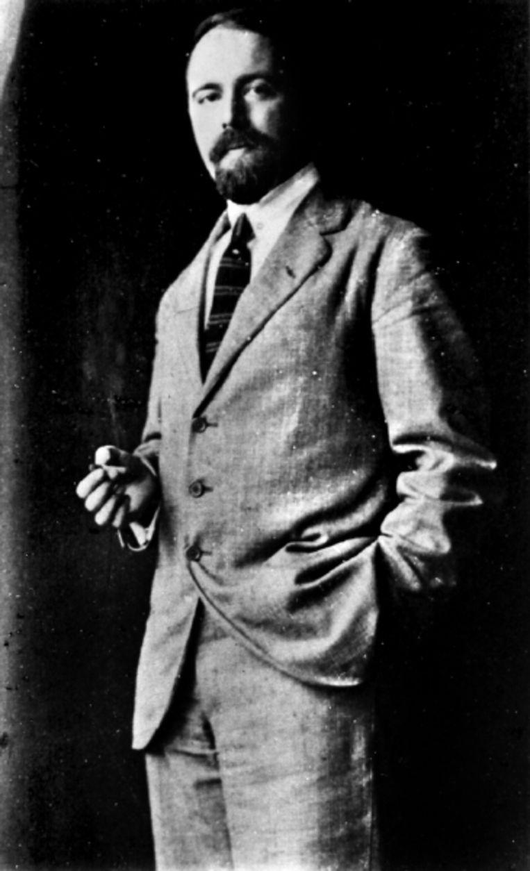 Pieter Geyl in Londen, 1922. (FOTO UNIVERSITEITSBIBLIOTHEEK UTRECHT) Beeld