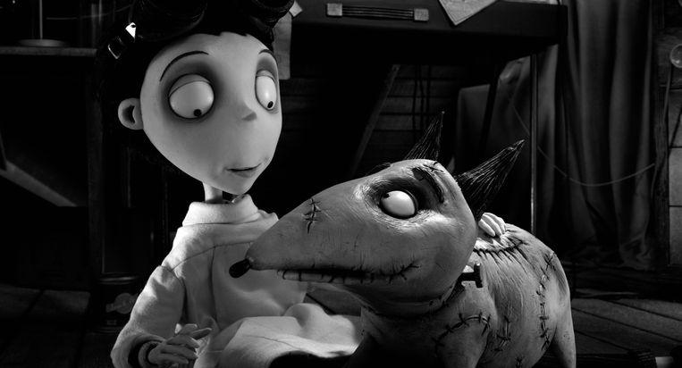 Frankenweenie van Tim Burton, nu te zien op SBS 9. Beeld x